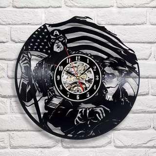 美國隊長黑膠唱片掛鐘