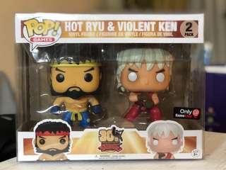 Street Fighter Evil Ryu and Violent Ken Gamestop Exclusive Funko Pop