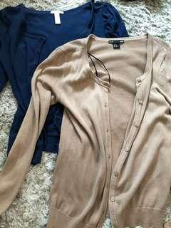 H&M and ambiance apparel cardigan bundle