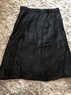Plains & prints black skirt
