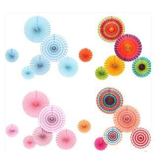 🚚 (In Stock)6pcs Paper Fans Decoration Set