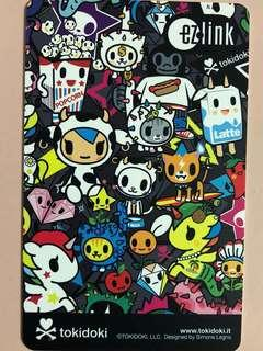 Limited edition brand new Tokidoki Black design Ezlink card for sale .