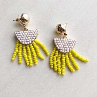 Trendy Beads Tassel Earring