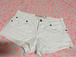 Bershka White Shorts