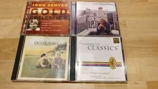 Audio CDs (4 for Rm60) nett