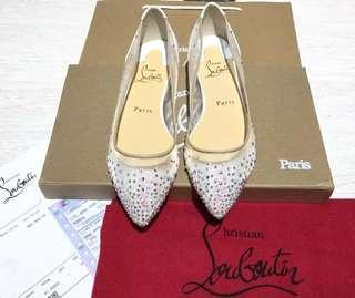 Loubutin flat shoes