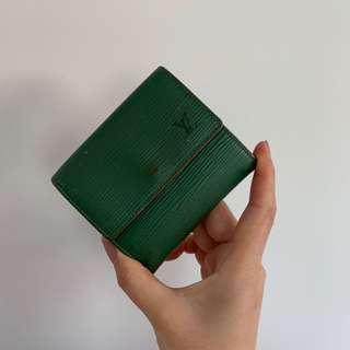 Authentic LV green Short Wallet
