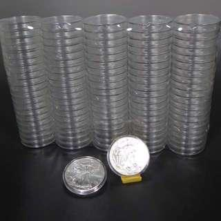 40mm Diameter Acrylic Round Case For Bullion Gold And Silver Coins And Rounds