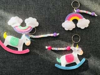 Rainbow / Unicorn Keychain