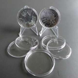 38mm Diameter Clear Acrylic Round Bullion Case For Silver And Gold Coins