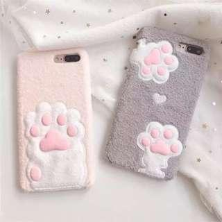 Cute kitty paw pink phone case for iPhone 6:6s