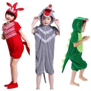 IN STOCK Kids animal costume wolf costume fox costume dinosaur costume children's day costume Halloween costume