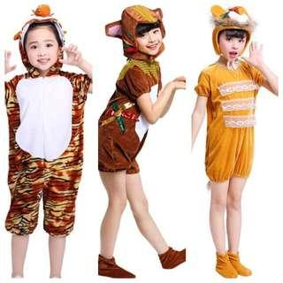 IN STOCK jungle animal costume monkey costume tiger costume lion costume children's day costume Halloween costume