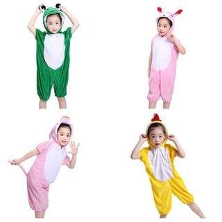 IN STOCK Farm animal costume pig costume frog costume chicken costume rabbit costume children's day costume Halloween costume