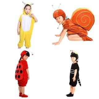 IN STOCK Kids insect costume animal costume snail costume ladybird costume ant costume bee costume children's day costume Halloween costume