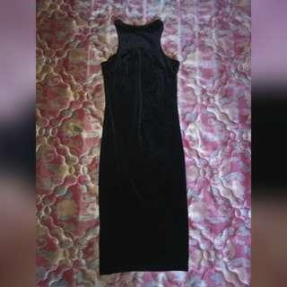Dress bludru fitbody