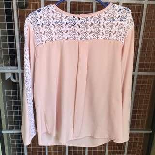 STRADIVARIUS Pink long sleeves