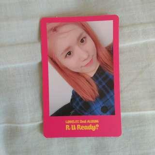 Lovelyz Jin 'R U ready?' pink photocard