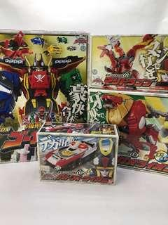 Super Sentai Power Ranger gokai set of 4