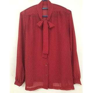 Really sweet polka dot blouse s to m size