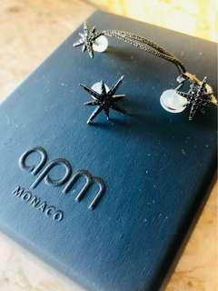 APM Asymmetric Meteorites Clip Earrings