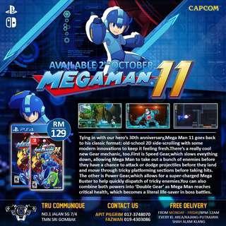 Megaman 11 (preorder - 2nd October 2018)