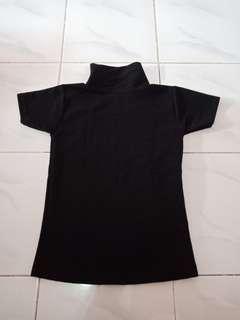 Atasan hitam knit