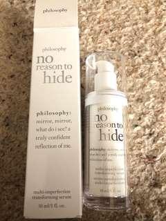 Philosophy no reason to hide