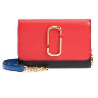🚚 Marc Jacobs - Snapshot Leather Wallet on Chain