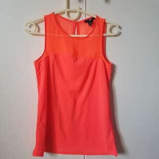 H&M Neon pink and orange top