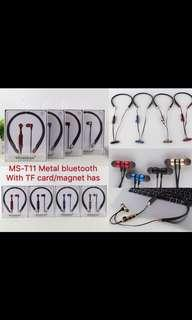 MS- T11 Wireless Stereo Headphone with TF memory card slot