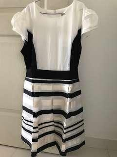BNWT Black and White Dress with Zip