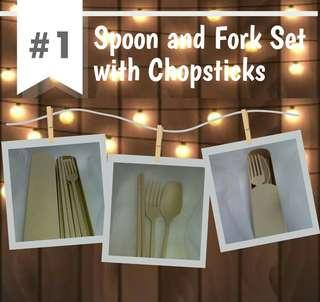 Spoon and Fork Set with Chopsticks