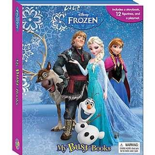 [Disney Frozen] My Busy Book Storybook -12 Figurines and a Playmat