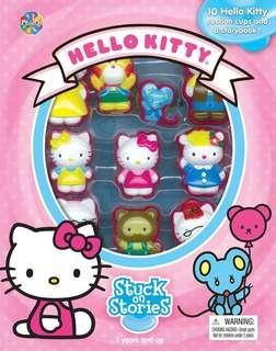 [Sanrio Hello Kitty] Stuck on Stories - 10 suction cups and a storybook