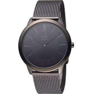 CK Calvin Klein Minimal 俐落米蘭時尚腕錶-黑/40mm