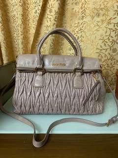 Authentic miu  miu bag,,80%new,conditions as pic size 30*20*12cm