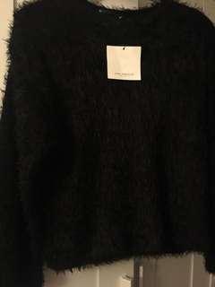 Zara Faux Fur Sweater