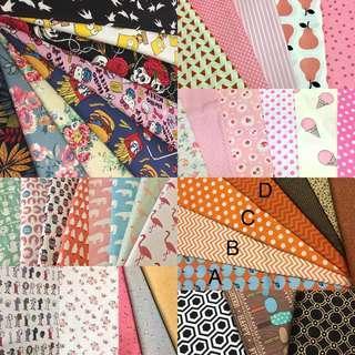 Mix fabrics combo offer random 6pcs fabric/kain diy cute cotton cloth