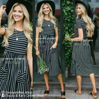 Striped Dress With Pockets
