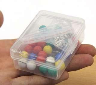 Kisslock/clasp lock/jelly lock pins with studs holder (colours)