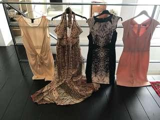 Dresses, T-shirts and Skirts for sale - men's (M-L, 34 waist) and women's (size 10)