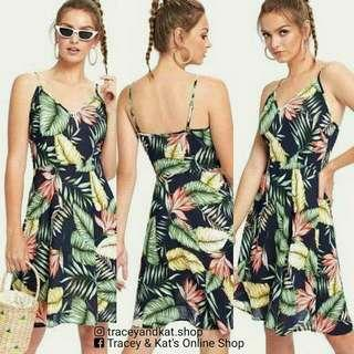 Leaves Print Dress