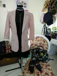 J KY Pink Nude Blazer