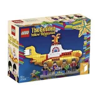 全新未拆 LEGO 樂高21306 The Beatles Yellow Submarine 披頭四 黃色潛水艇