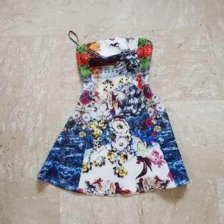 Love Bonito Parisse Neoprene Tube Dress XS