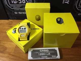 Japan Exclusive JDM Casio G-Shock x Bape Limited Edition Collaboration DW6900 Watch