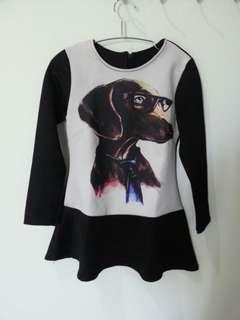 Black peplum top / blouse peplum