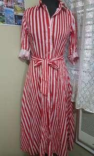 Striped button down dreas