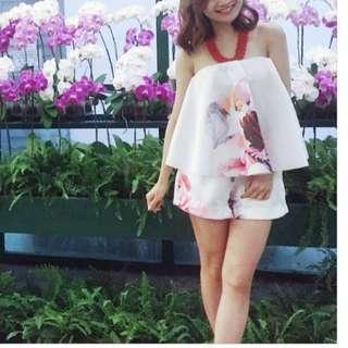 Floral tube jumpsuits / rompers
